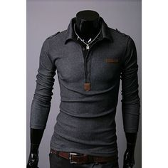 Spring New Style Long Sleeve Shirt Collar Casual Shirt For Men