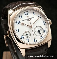 Montre de luxe Vacheron Constantin Harmony Dual Time or rose
