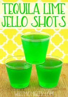 Tequila Lime Jello Shots Recipe on Yummly. @yummly #recipe