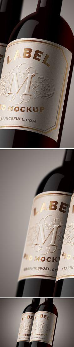 Free Wine Bottle Label Mockup (29.5 MB) | graphicsfuel.com | #free #mockup #photoshop