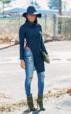 Acessorize  WINDSOR TOP || H&M JEANS (ALTERNATIVE) || LOVE CORTNIE BAG || H&M HAT (ALTERNATIVE) || SCHUTZ BOOTS  Fashion By The Daileigh