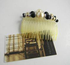 Vintage Hair Combs set of two by FeliceSereno on Etsy, $4.00