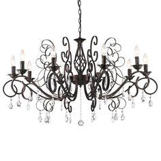 Vintage Crystal Chandelier > $199.99 Wrought Iron, Ten Lights - http://chandeliertop.com/vintage-crystal-chandelier-199-99-wrought-iron-ten-lights/