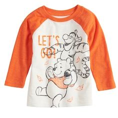 6331ce46b4 Disney s Winnie the Pooh Baby Boy Raglan Graphic Tee by Jumping Beans®  Tigger And Pooh