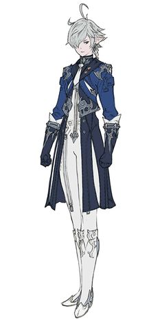 View an image titled 'Alphinaud Leveilleur Art' in our Final Fantasy XIV: Heavensward art gallery featuring official character designs, concept art, and promo pictures. Character Design Cartoon, Fantasy Character Design, Character Design References, Character Design Inspiration, Character Concept, Character Art, Concept Art, Angry Birds Characters, Vector Characters