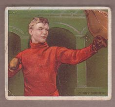 1910 Mecca T218 Johnny Summers boxing card