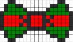 Raphael Ninja Turtle Bow  perler bead pattern
