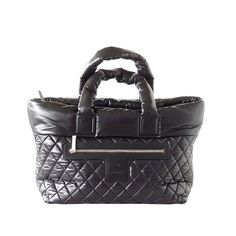 Chanel Bag Coco Cocoon black tote Limited Edition New Chanel Reissue, Nylon Tote Bags, Quilted Bag, Black Tote, Black Nylons, Bag Sale, Celine, Cases, Handbags