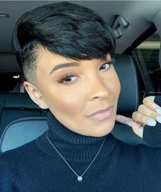 47 Adorable Taper Fade Haircut Women Ideas For The Boldest Change Of Image Short Natural Haircuts, Cute Hairstyles For Short Hair, Black Women Hairstyles, Short Haircuts, Sassy Haircuts, Wedding Hairstyles, Shaved Side Hairstyles, Mohawk Hairstyles, Shaved Side Haircut