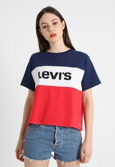 4ba63a64138 Levi s® 501 COLORBLOCK TEE - T-shirt imprimé - peacoat white chinese