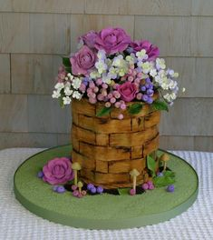 - Chocolate Flower Basket Cake, created by Starlightcustomcakes.com