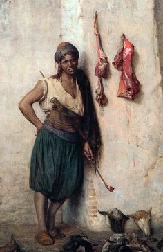 Turkish Butcher Boy in Jerusalem, by Jean-Léon Gérôme (detail)