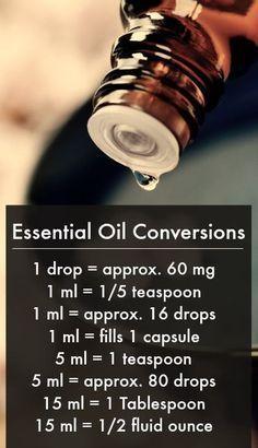 Essential Oil Conversions www.greenlivingladies.com www.mydoterra.com/303320 #aromatherapy #essentialoils