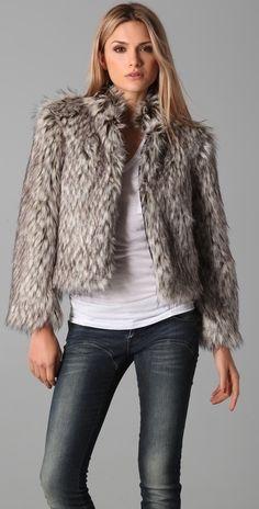 Simone Faux Fur Jacket thestylecure.com