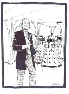 Doctor Who and The Daleks by Pia Guerra Comic Art