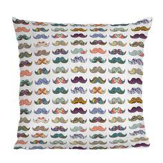 Mustache Mania Throw Pillow