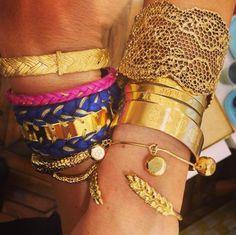 Aurélie Bidermann   Golden wrists !