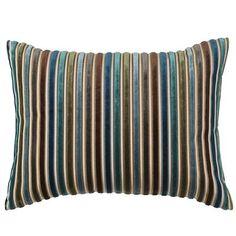 Cool Velvet Stripe Pillow