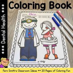 Your Students will ADORE these Coloring Book Pages for Dental Health, add it to your plans to compliment any Dental Health activity! 20 Coloring Pages For Some Dental Health Fun! Color For Fun Dental Early Finishers Activities, Dental Health Month, Parent Volunteers, Health Activities, Coloring Book Pages, Printable Coloring, Writing A Book, Indoor Recess, Elementary Schools