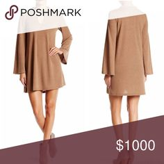 """Mock neck sweater dress This is a NWT Taupe colored sweater dress by Very J. Details include mock neck with front keyhole and knit construction. Approximate length is 33.5"""". Materials are 95% polyester and 5% spandex. ⚜Please see my """"reasonable offers"""" listing at the top of my page before submitting an offer⚜Thank you😊 Very J Dresses Mini"""