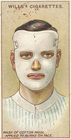 Burns on Face, no.32 from the 'First Aid' series of 'Wills's Cigarettes' cards, 1913 Prints by English School | Magnolia Box