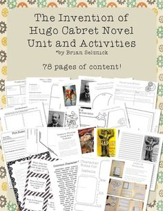 The Invention of Hugo Cabret is an amazing choice for delving deeply into literature with your kids. This Caldecott Award winning book is written and illustrated in a unique style and is full of excellent opportunities to study author's craft, figurative language, cause and effect, and inferential thinking.  Check out the preview! There's a lot packed into this thorough unit!