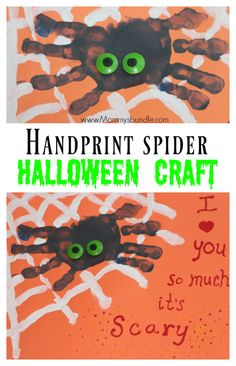 {FREE Printable} An easy handprint spider craft for toddlers and preschoolers…