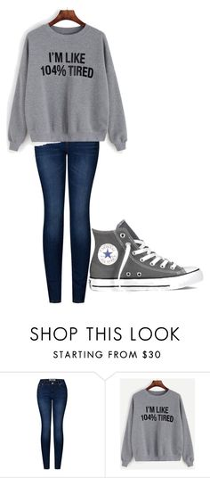 """Untitled #244"" by cruciangyul on Polyvore featuring 2LUV and Converse"
