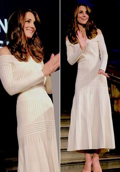 """slaybridges: """" The Duchess of Cambridge on stage at the Art Fund Museum of the Year Awards. """""""