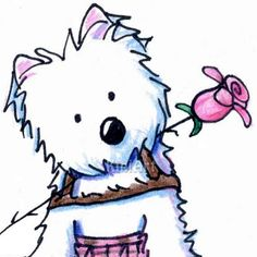 westie drawings free westie terrier drawings showing by kim niles rh pinterest com
