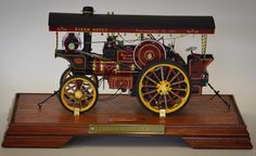 LOT 606: A good model of a traction engine in a display case entitled the 'Garrett Showman 1919'. Est. 200 - 250.Coming up in our SPRING AUCTION on Thursday 9th March. To include #Silver #Jewellery #Watches #Collectables #Pictures #China & #Antique #Furniture. #March9 #whittonsauctions #auction #Honiton #pin #twitter