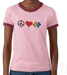 #Zazzle                   #love                     #Peace #Love #Autism #T-shirts #from #Zazzle.com    Peace Love Autism T-shirts from Zazzle.com                                    http://www.seapai.com/product.aspx?PID=1541699