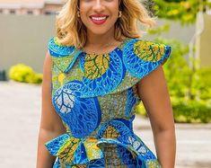 African Dress Ankara Dress Off Shoulder African Midi Dress African Fashion Ankara, Ghanaian Fashion, African Inspired Fashion, Latest African Fashion Dresses, African Dresses For Women, African Print Fashion, Africa Fashion, African Attire, African Women Fashion