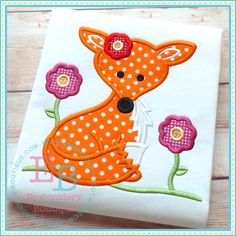 Girl Fox Applique from:  embroidery-boutique.com