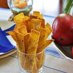 tortilla chips cumin and lime juice add a real zing to these chips and ...