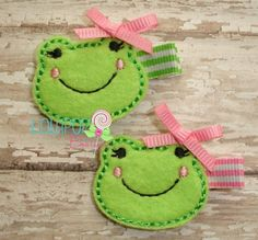 Frog Felt Hair Clip Toddler Clips by TheLollipopBoutique on Etsy, $3,49