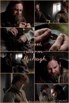 One of the most tender and touching scenes in which Jamie and Murtagh remember Jamie's mother, Ellen.