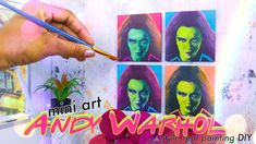 DIY - How to Make: Andy Warhol inspired miniature 1:6th scale Art | Real...