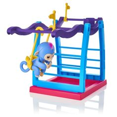 Quartly Interactive Baby Monkey Climbing Stand toys for Monkey Jungle Gym Playset (A). ❀:Your children's bed story will be more lively. Effective tool for early education. ❀:Provide development benefits for toddlers and preschoolers. ❀:Great for home, schools and other learning centers. ❀:The climbing playground is perfect for your little pets to monkey around. ❀:Your friends can grip on the side of the playset or hang upside down from their tails.
