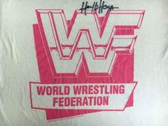 HULK HOGAN Shirt 1992 Signed WWF World Wrestling TitanSports NEON USA Made XL #TouchofGold #GraphicTee