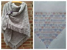 Omslagdoek | Sjaler | Crochet shawl, Shawl and Crochet