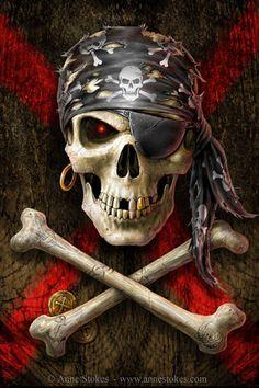 Pirate Skull repinned by www.BlickeDeeler.de