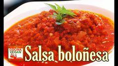 Salsa boloñesa (con soya texturizada) - Cocina Vegan Fácil