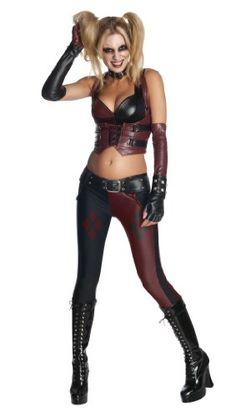 Secret Wishes Batman Arkham City  Adult Harley Quinn Costume, Multi-Colored, Small