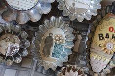 Collages in Vintage Tart Tins