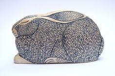 Lorraine Izon — cambridge contemporary art Ceramic Owl, Ceramic Clay, Ceramic Pottery, Pottery Art, Pottery Ideas, Animal Jewelry, Jewelry Art, Pollock Paintings, Rabbit Sculpture