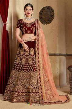 021c1234d5e455 Style to impress this wedding season in this sabyasachi designer lehenga  for bridal motifs. Try