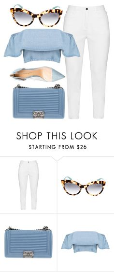 """""""Blues"""" by smartbuyglasses-uk ❤ liked on Polyvore featuring Zhenzi, Prada, Chanel, Gianvito Rossi and Blue"""