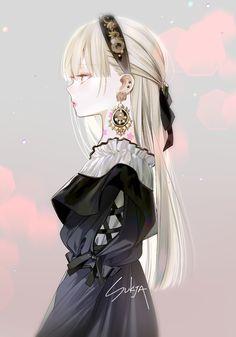 Anime Girl Dress, Manga Anime Girl, Cool Anime Girl, Pretty Anime Girl, Anime Girl Drawings, Beautiful Anime Girl, Kawaii Anime Girl, Anime Angel Girl, Anime Girls
