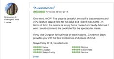 Review from a guest (student) taking an exam at the Prometric Test centre - walking distance from our place!